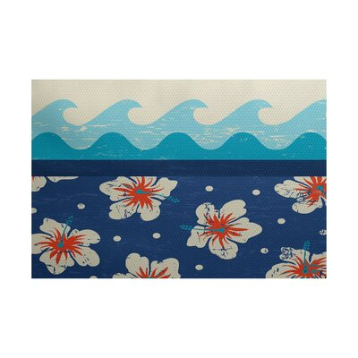 Pembrook Blue Indoor/Outdoor Area Rug Rug Size: 5 x 7