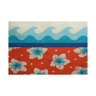 Golden Beach Indoor/Outdoor Area Rug Rug Size: 3 x 5