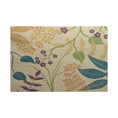 Orchard Lane Gold Indoor/Outdoor Area Rug Rug Size: 4 x 6