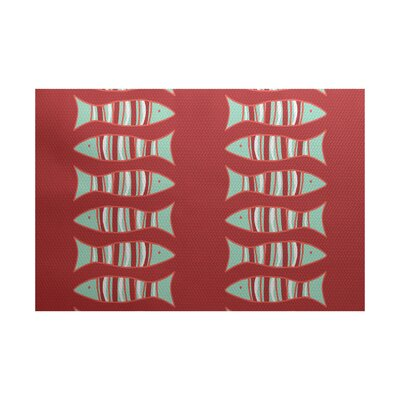 Grand Ridge Coral Indoor/Outdoor Area Rug Rug Size: 5 x 7
