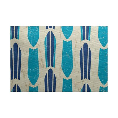 Golden Beach Turquoise Indoor/Outdoor Area Rug Rug Size: 3 x 5