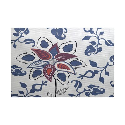 Orchard Lane Blue Indoor/Outdoor Area Rug Rug Size: 5 x 7