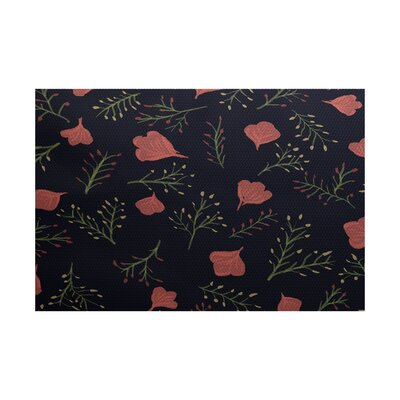 Orchard Lane Navy Blue Indoor/Outdoor Area Rug Rug Size: 3 x 5
