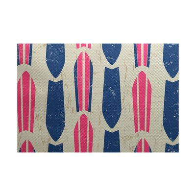 Pembrook Pink Indoor/Outdoor Area Rug Rug Size: 5 x 7
