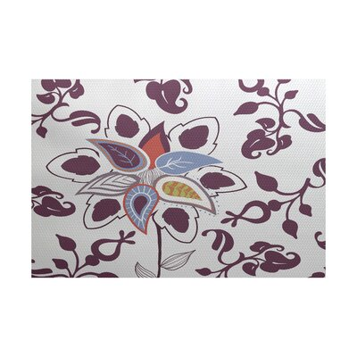 Orchard Lane Purple Indoor/Outdoor Area Rug Rug Size: 5 x 7