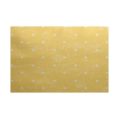 Golden Beach Yellow Indoor/Outdoor Area Rug Rug Size: 5' x 7'
