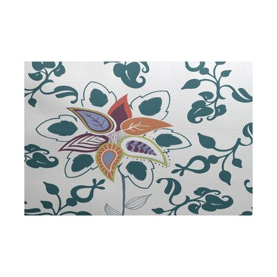 Vinoy Teal Indoor/Outdoor Area Rug Rug Size: 2 x 3
