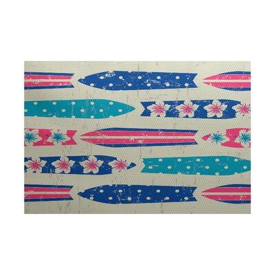 Pembrook Blue Indoor/Outdoor Area Rug Rug Size: Rectangle 3' x 5'