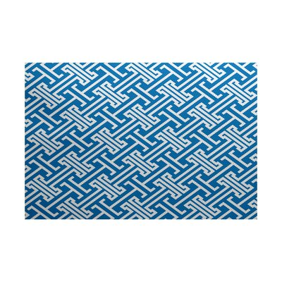 Hancock Blue Indoor/Outdoor Area Rug Rug Size: 5 x 7