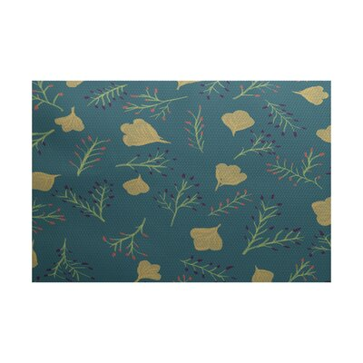 Orchard Lane Teal Indoor/Outdoor Area Rug Rug Size: 5 x 7