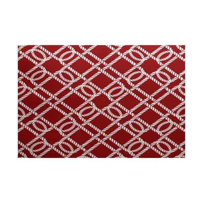 Bridgeport Red Indoor/Outdoor Area Rug Rug Size: 4 x 6