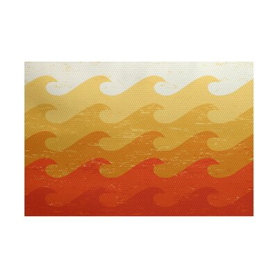 Pembrook Yellow/Orange Indoor/Outdoor Area Rug Rug Size: 4' x 6'