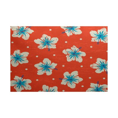 Pembrook Orange Indoor/Outdoor Area Rug Rug Size: 2 x 3