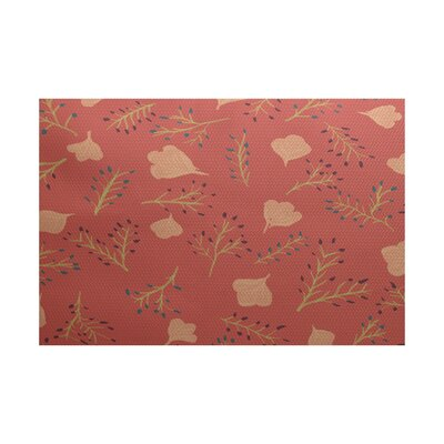 Orchard Lane Coral Indoor/Outdoor Area Rug Rug Size: 3 x 5