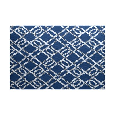 Bridgeport Blue Indoor/Outdoor Area Rug Rug Size: 4 x 6