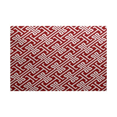Hancock Red Indoor/Outdoor Area Rug Rug Size: Rectangle 2 x 3