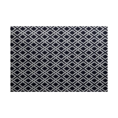 Hancock Navy Blue Indoor/Outdoor Area Rug Rug Size: 3 x 5