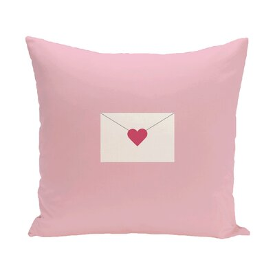 E By Design Valentine's Day Envelope Throw Pillow - Size: 16