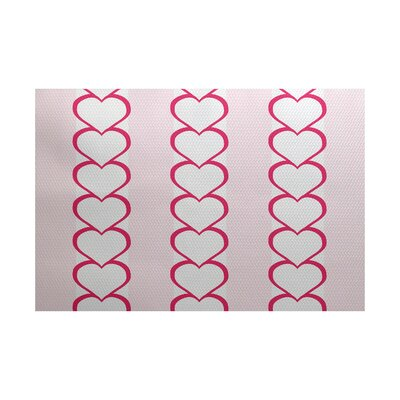 Valentines Day Fuchsia Indoor/Outdoor Area Rug Rug Size: Rectangle 3 x 5