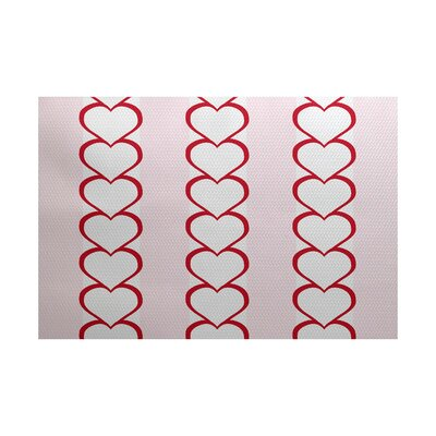 Valentines Day Red Indoor/Outdoor Area Rug Rug Size: 2 x 3