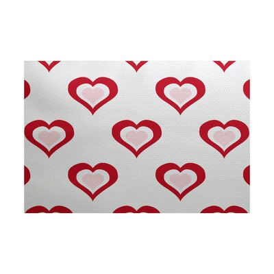 Valentines Day Red Indoor/Outdoor Area Rug Rug Size: Rectangle 2 x 3