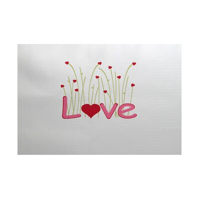 Valentines Day Red Indoor/Outdoor Area Rug Rug Size: 4 x 6