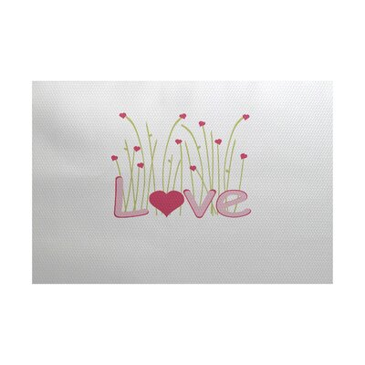 Valentines Day Pink Indoor/Outdoor Area Rug Rug Size: 2 x 3