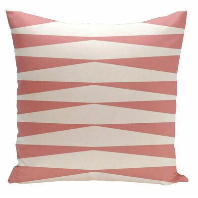 Jennifer Faux Down Fill Throw Pillow Size: 18 x 18, Color: Pink