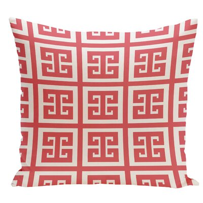 Geometric Throw Pillow Size: 16 H x 16 W, Color: Coral