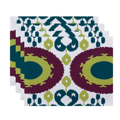 Oliver Boho Geometric Print Placemat Color: Purple