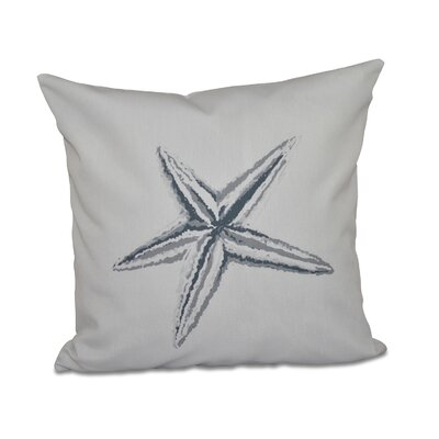 Decorative Starfish Throw Pillow Size: 16 H x 16 W, Color: Grey