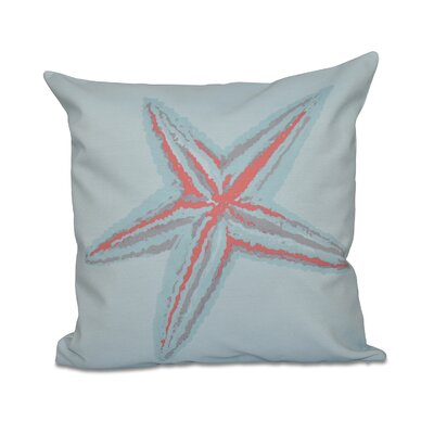 Decorative Starfish Throw Pillow Size: 16 H x 16 W, Color: Coral