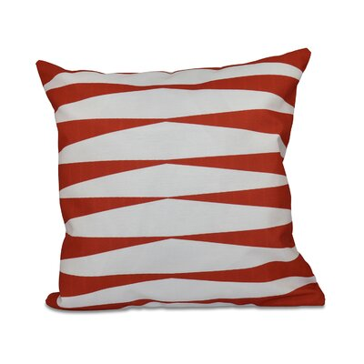 Jennifer Faux Down Fill Throw Pillow Size: 18 x 18, Color: Red