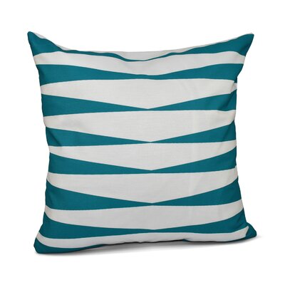Jennifer Faux Down Fill Throw Pillow Size: 16 x 16, Color: Lake Blue