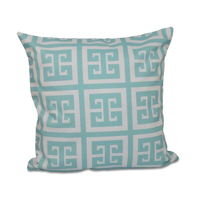 Geometric Throw Pillow Size: 18 H x 18 W, Color: Ocean