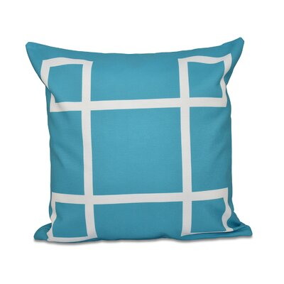 Geometric Down Throw Pillow Size: 18 H x 18 W, Color: Turquoise
