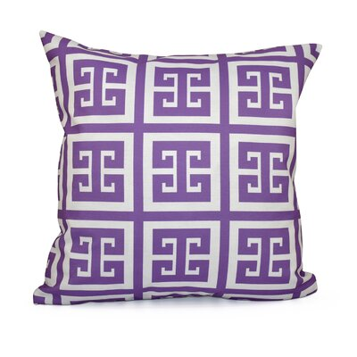 Geometric Throw Pillow Size: 16 H x 16 W, Color: Heather