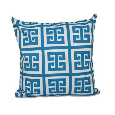 Geometric Throw Pillow Size: 16 H x 16 W, Color: Peacock