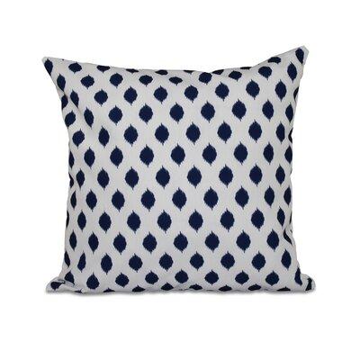 Cop-Ikat Geometric Print Throw Pillow Color: Spring Navy, Size: 20 H x 20 W x 1 D