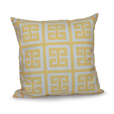 Geometric Throw Pillow Size: 18 H x 18 W, Color: Lemon