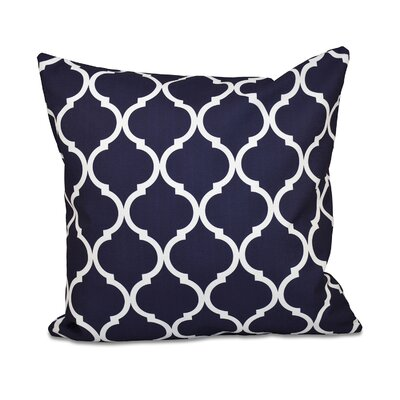 French Quarter Geometric Print Throw Pillow Color: Bewitching, Size: 26 H x 26 W x 1 D