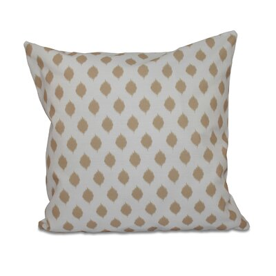 Alarice Cop-Ikat Geometric Print Throw Pillow Size: 20 H x 20 W x 1 D, Color: Khaki