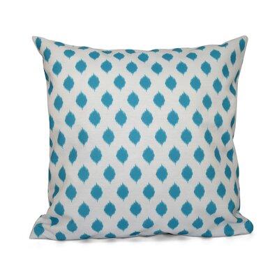 Cop-Ikat Geometric Print Throw Pillow Size: 20 H x 20 W x 1 D, Color: Turquoise