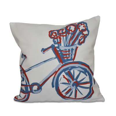 La Bicicleta Geometric Print Throw Pillow Size: 26 H x 26 W x 1 D, Color: Buddha