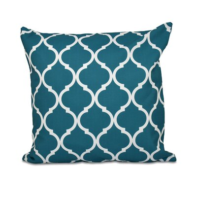 French Quarter Geometric Print Throw Pillow Size: 16 H x 16 W x 1 D, Color: Deep Sea