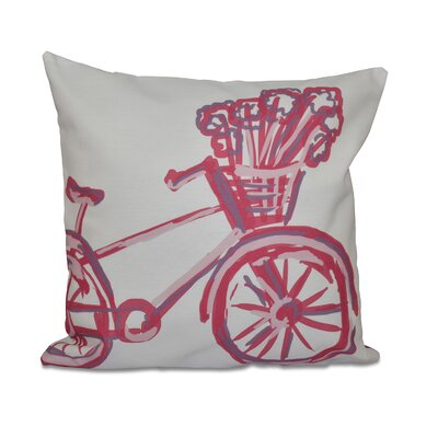 La Bicicleta Geometric Print Throw Pillow Size: 16 H x 16 W x 1 D, Color: Pink Cheeks
