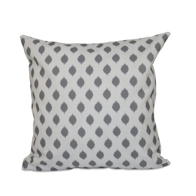 Alarice Cop-Ikat Geometric Print Throw Pillow Size: 26 H x 26 W x 1 D, Color: Classic Gray