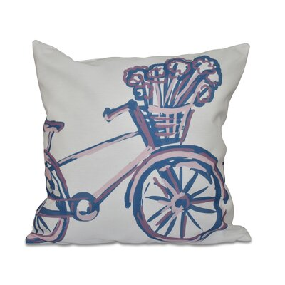 La Bicicleta Geometric Print Throw Pillow Size: 26 H x 26 W x 1 D, Color: Pale Orchid