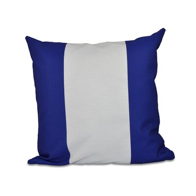Big Stripe Vertical Faux Down Fill Throw Pillow Size: 16 H x 16 W, Color: Dazzling Blue
