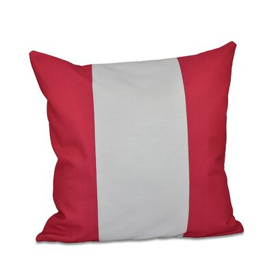 Big Stripe Vertical Faux Down Fill Throw Pillow Size: 18 H x 18 W, Color: Fuchsia